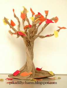 Paper Bag Fall Tree2